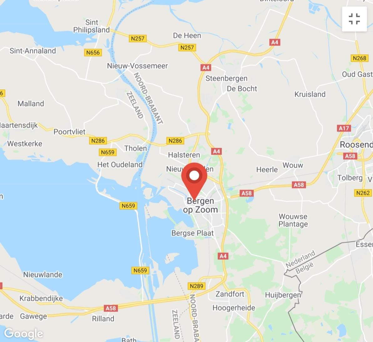 Kaart coronatest-bergenopzoom.com - Coronatest locaties Bergen op Zoom